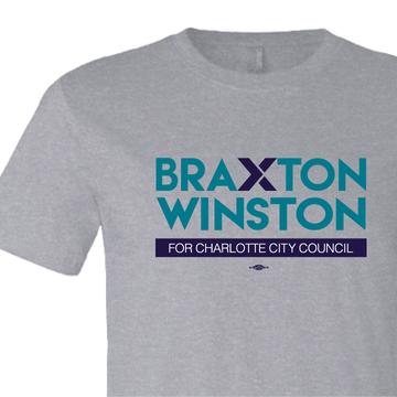 Braxton Winston Full Logo (on Athletic Heather Tee)