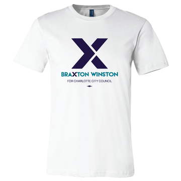 """X"" Braxton Winston Logo (on White Tee)"