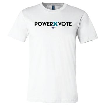 Power X Vote (on White Tee)