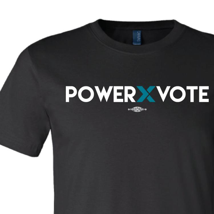 Power X Vote (on Black Tee)