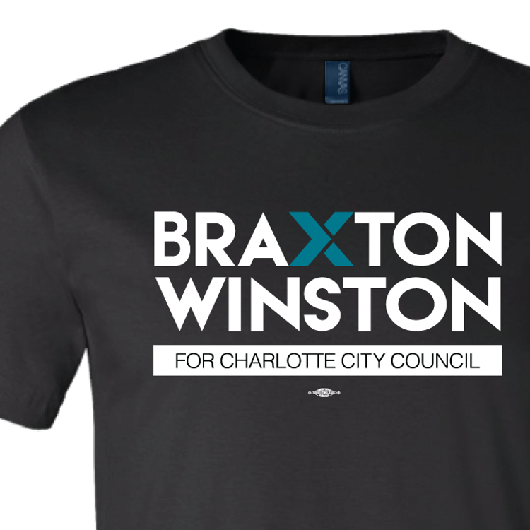 Braxton Winston Full Logo (on Black Tee)