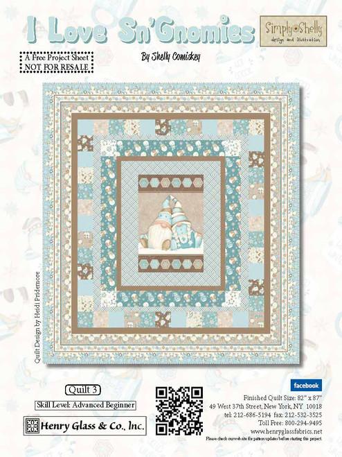 I Love Sn'Gnomies Flannel Quilt #3