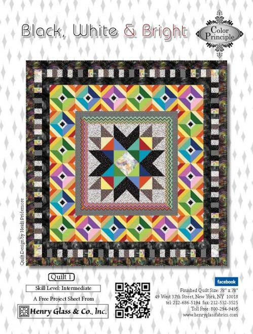 Black, White & Bright Quilt 1