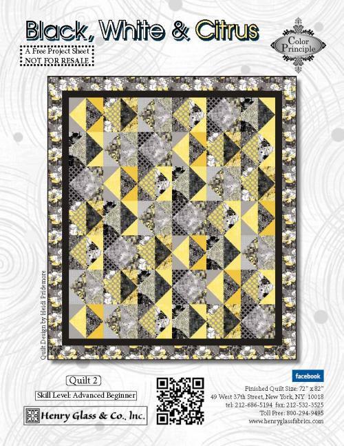 Black, White & Citrus Quilt #2