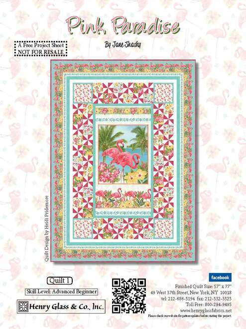 Pink Paradise Quilt #1