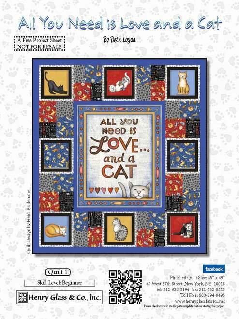 All You Need is Love and a Cat Quilt #1