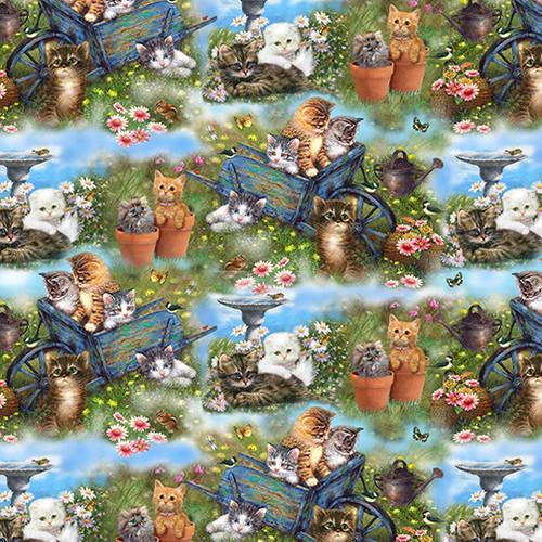 9992-66 Sage || Kittens in the Garden