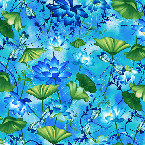 2792-17 Blue    Dragonfly Lagoon