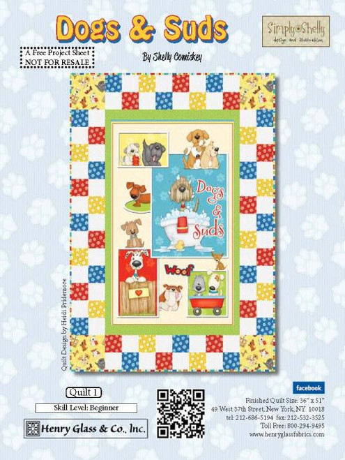 Dogs and Suds Quilt #1