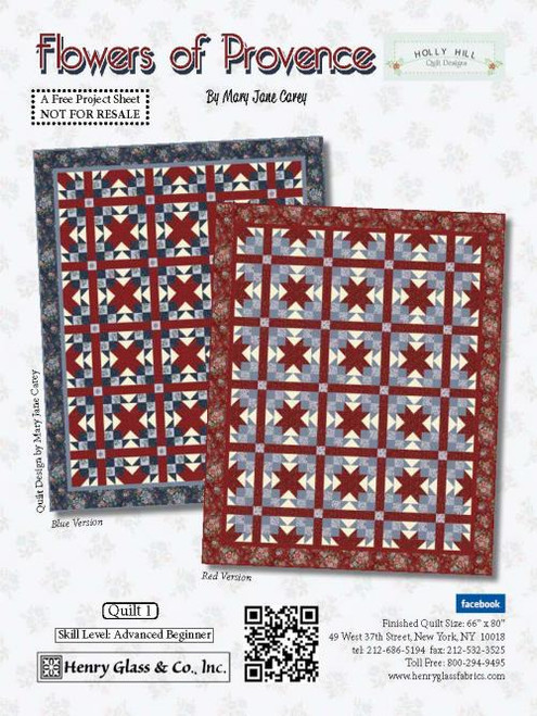 Flowers of Provence Quilt #1