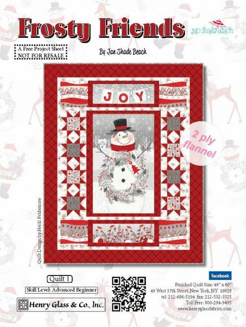 Frosty Friends 2-Ply Flannel Quilt #1
