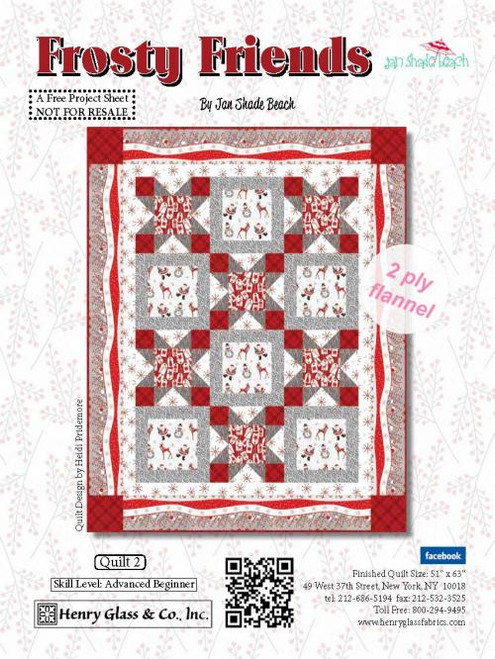 Frosty Friends 2-Ply Flannel Quilt #2