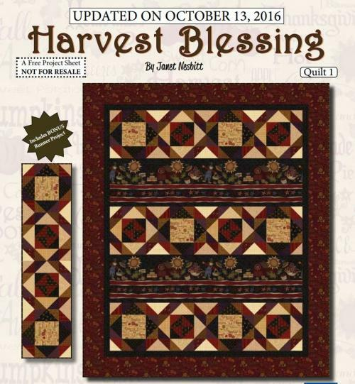 Harvest Blessings- Quilt 1