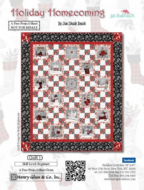 Holiday Homecoming Quilt 1