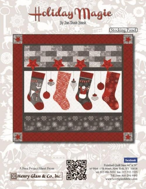Holiday Magic- Stocking Panel Pattern