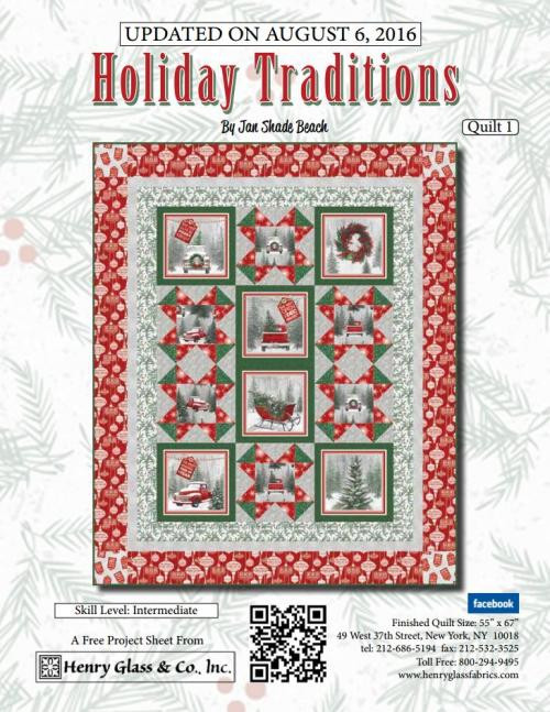 Holiday Traditions Quilt 1