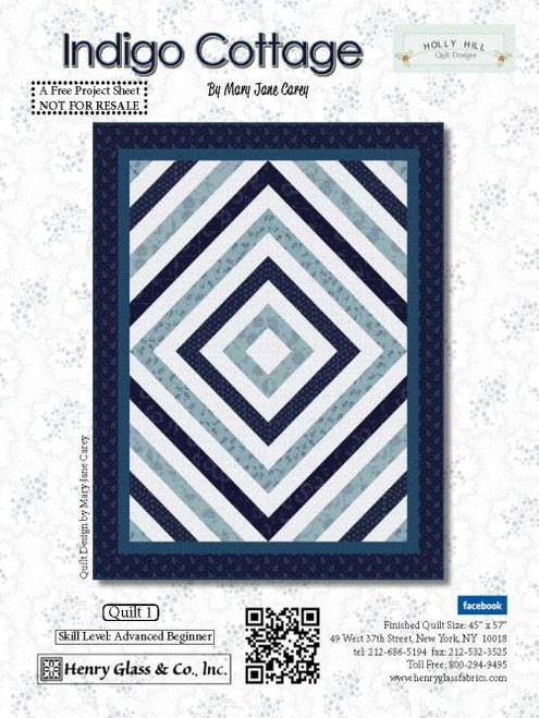 Indigo Cottage Quilt #1