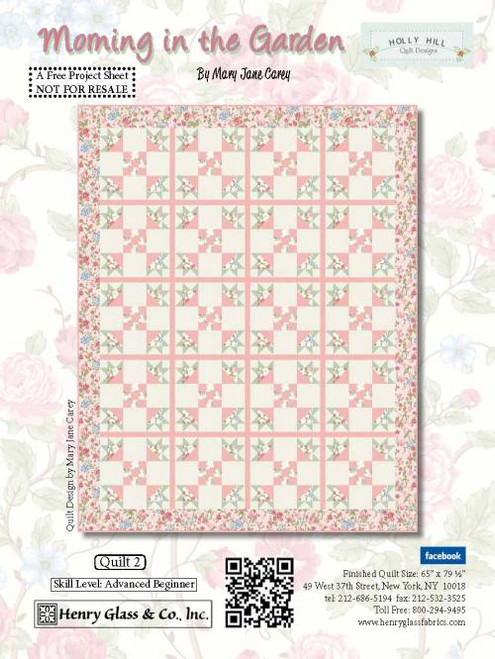 """""""Morning in the Garden Quilt #2"""" a Free Summer Quilt Pattern designed by Mary Jane Carey of Holly Hill Quilt Designs from Henry Glass Fabrics"""