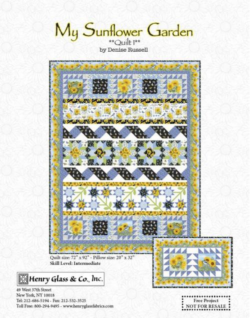 My Sunflower Garden Quilt #1