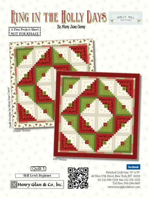 Ring in the Holly Days Quilt #3