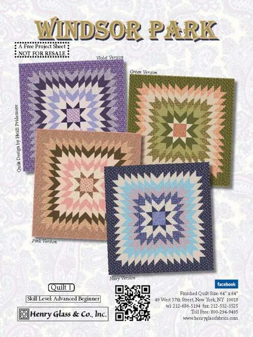 Windsor Park Quilt #1