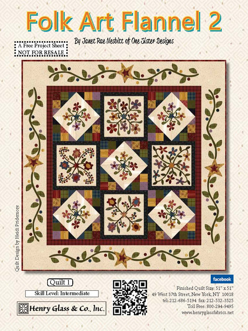 Folk Art Flannel 2 Quilt #1