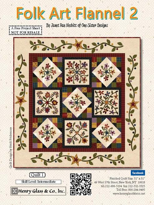 Folk Art Flannel 2 Quilt #1