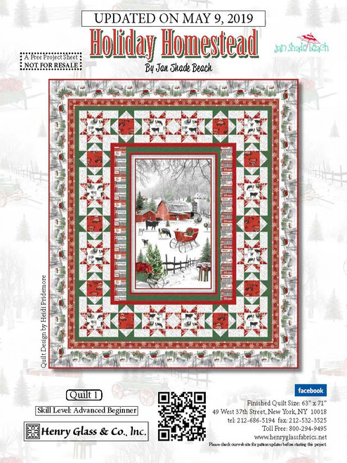 Holiday Homestead Quilt #1