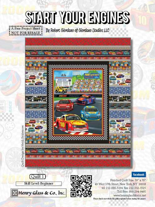 Start Your Engines Quilt #1