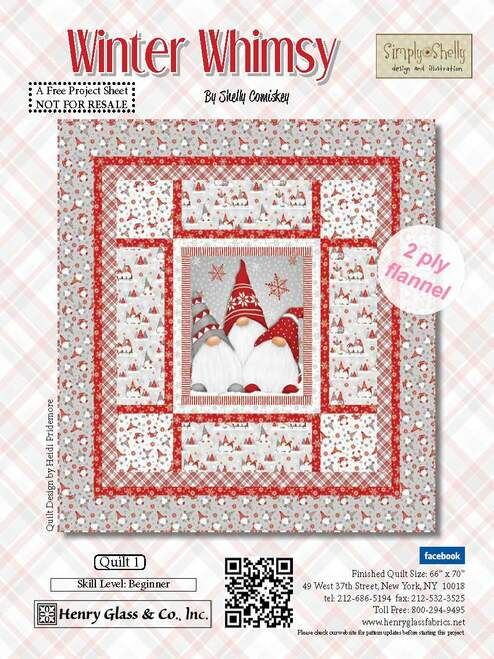 Winter Whimsy Quilt #1