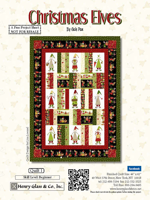 Christmas Elves Quilt #1