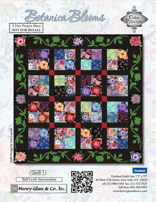 Botanica Blooms Quilt 1