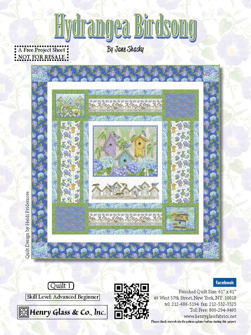 Hydrangea Birdsong Quilt #1