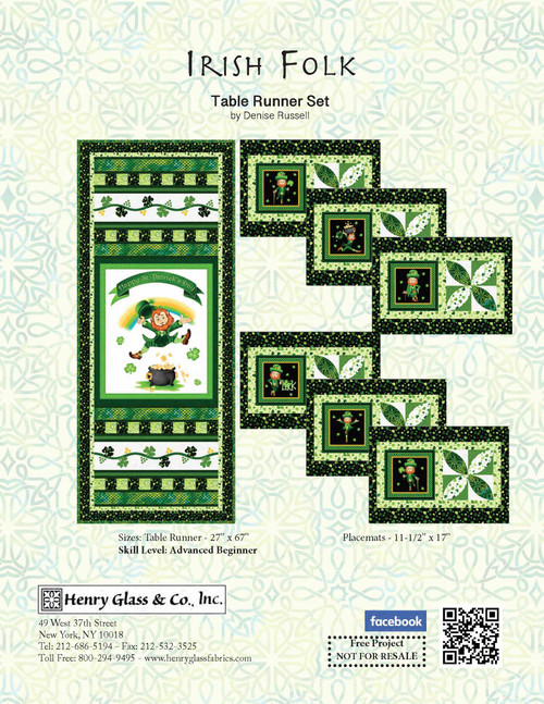 Irish Folk Tablerunner and Placemats