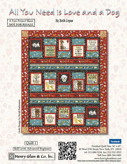 All You Need is Love and a Dog Quilt #1