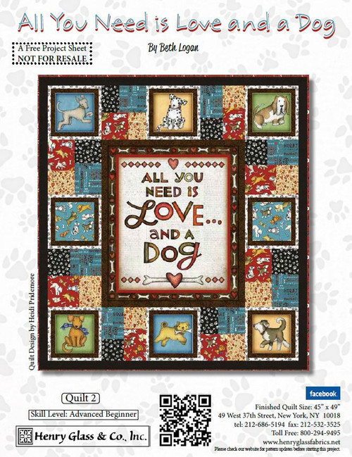 All you Need is Love and a Dog Quilt #2