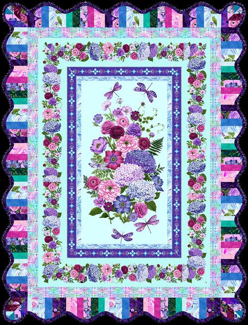 Dragonfly Garden Quilt #1