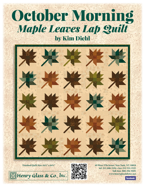 October Morning - Maple Leaves Lap Quilt