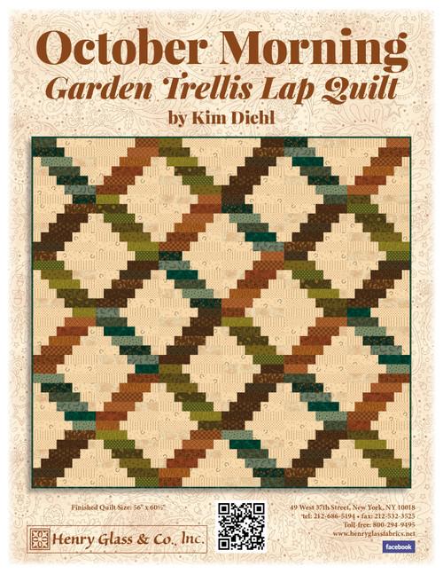 October Morning - Garden Trellis Lap Quilt