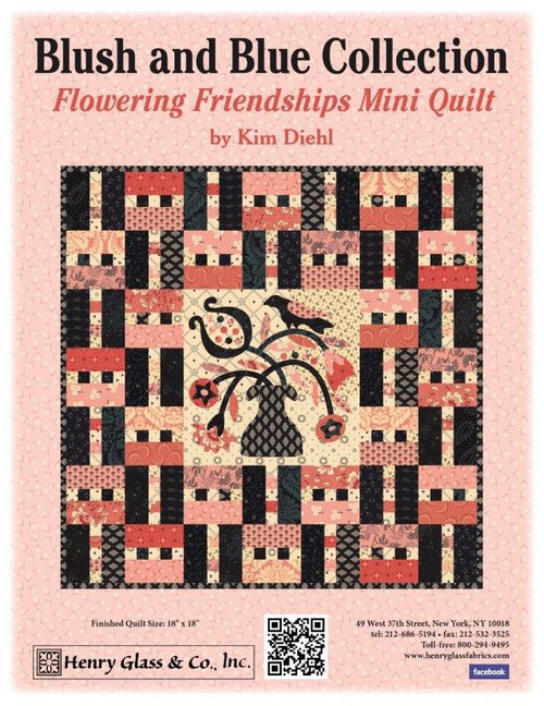 Blush and Blue - Flowering Friendships Quilt