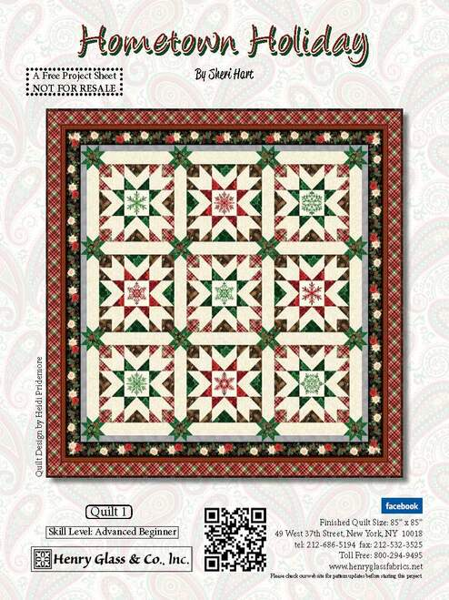 Hometown Holiday Quilt #1 Pattern