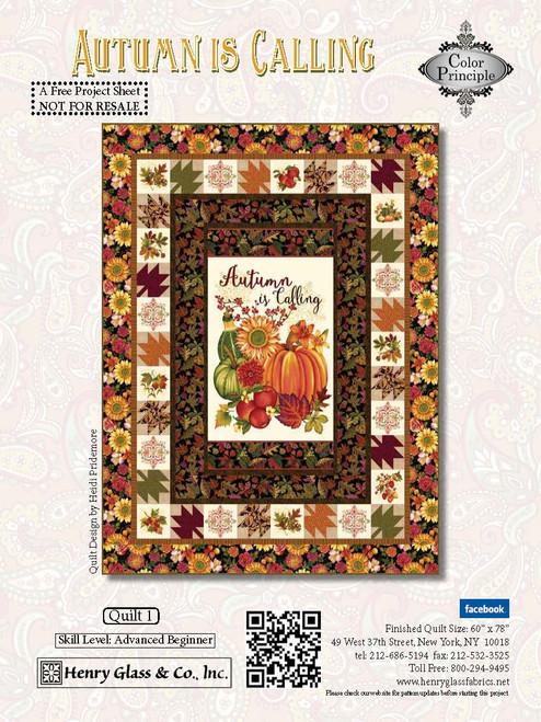 Autumn is Calling Quilt #1
