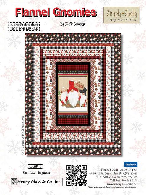 Flannel Gnomies Quilt #1