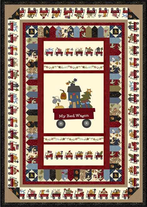 My Red Wagon Quilt #1