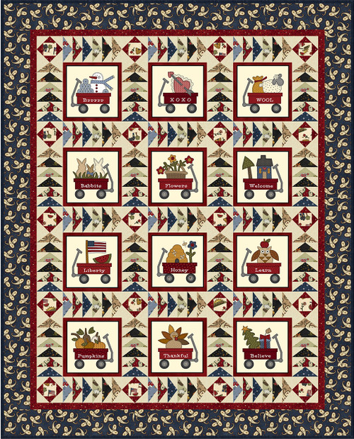 My Red Wagon Quilt #2
