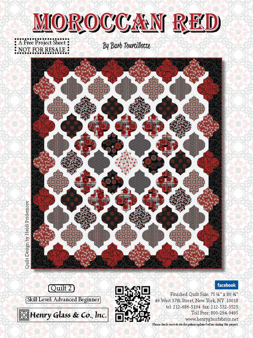Moroccan Red Quilt #2