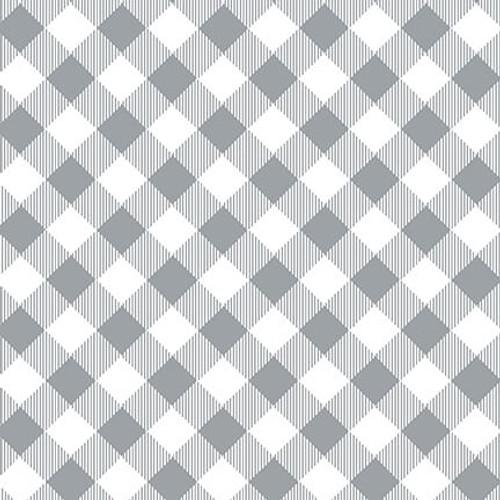 9300-90 Gray/White || Priscilla's Pretty Plaids