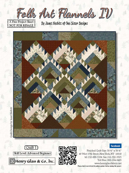 Folk Art Flannels IV Quilt #1