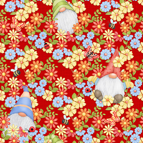 9443-88 Red || Gnome is Where Your Garden Grows
