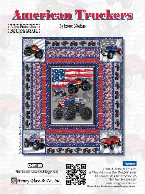 American Truckers Quilt #1
